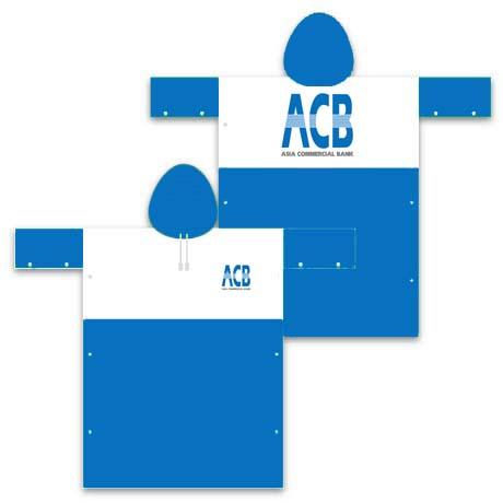 Áo mưa nhân viên ngân hàng ACB