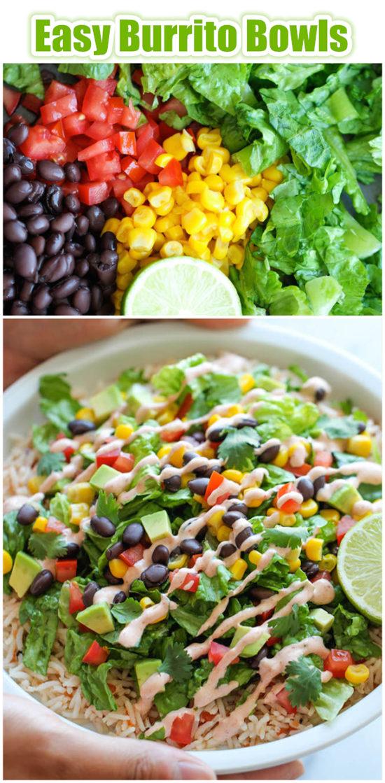 Easy Burrito Bowls