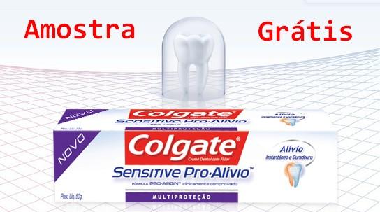 Amostra Gratis Colgate Sensitive Pro-Alívio
