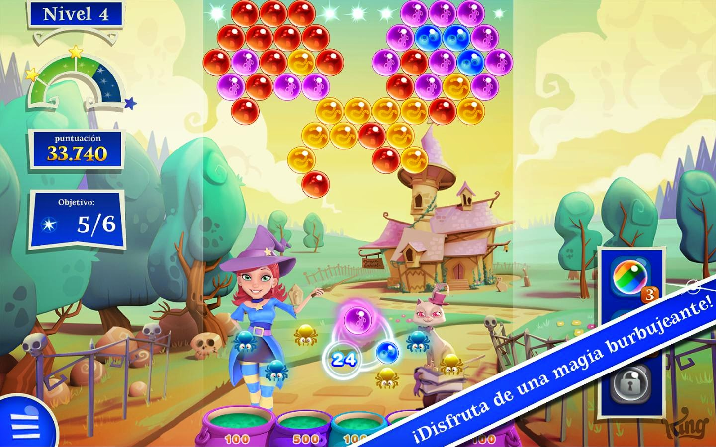 Buble Witch Saga 2 para Android, iPhone e iPad, vuelven los creadores de Candy Crush Saga