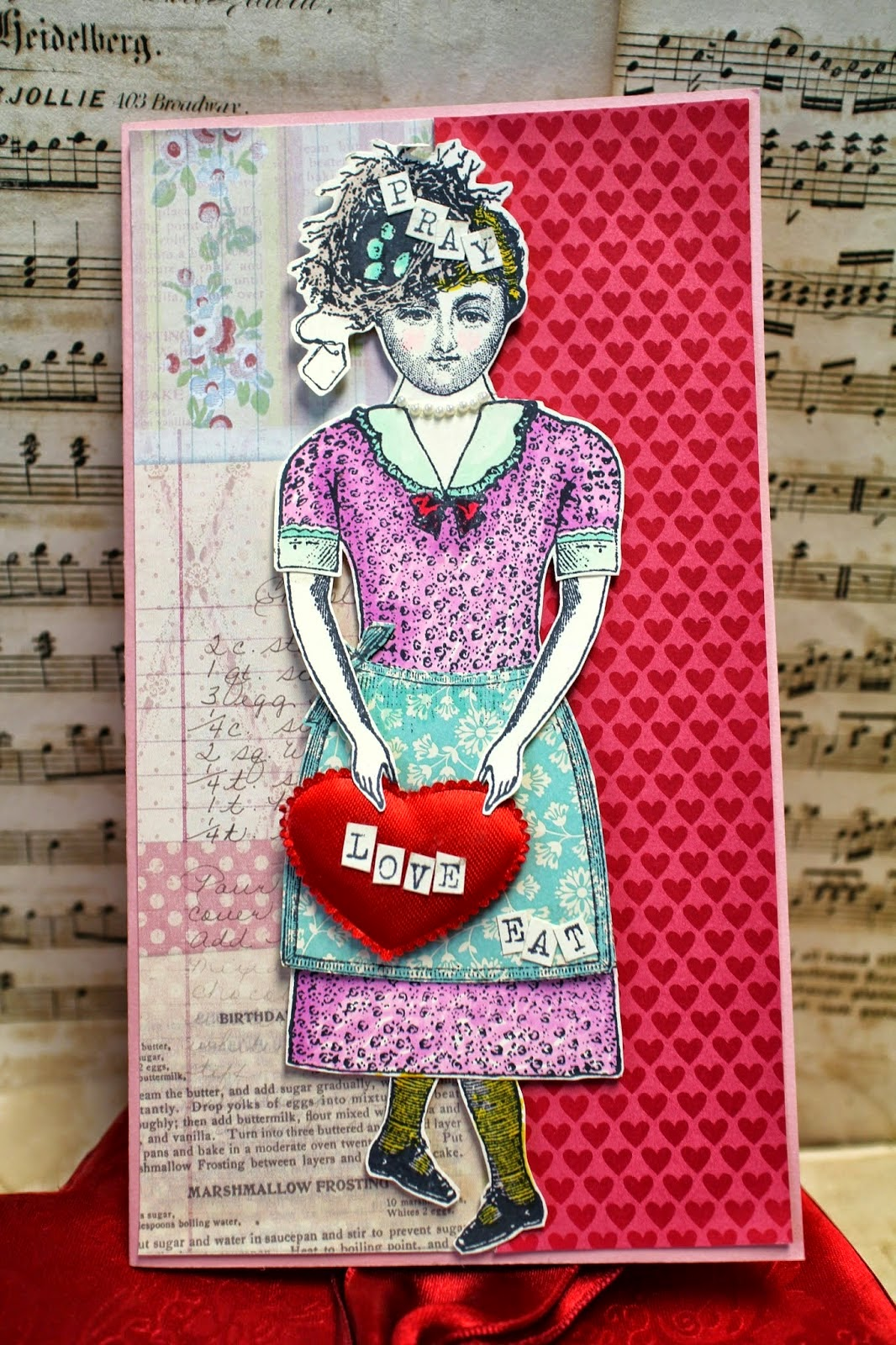 Valentine Doll Card