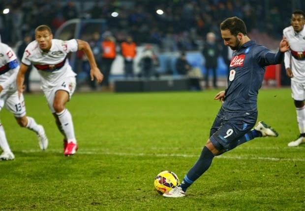 Liga Italia : Napoli 2-1 Genoa