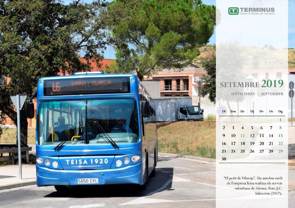 Calendari - Setembre del 2019