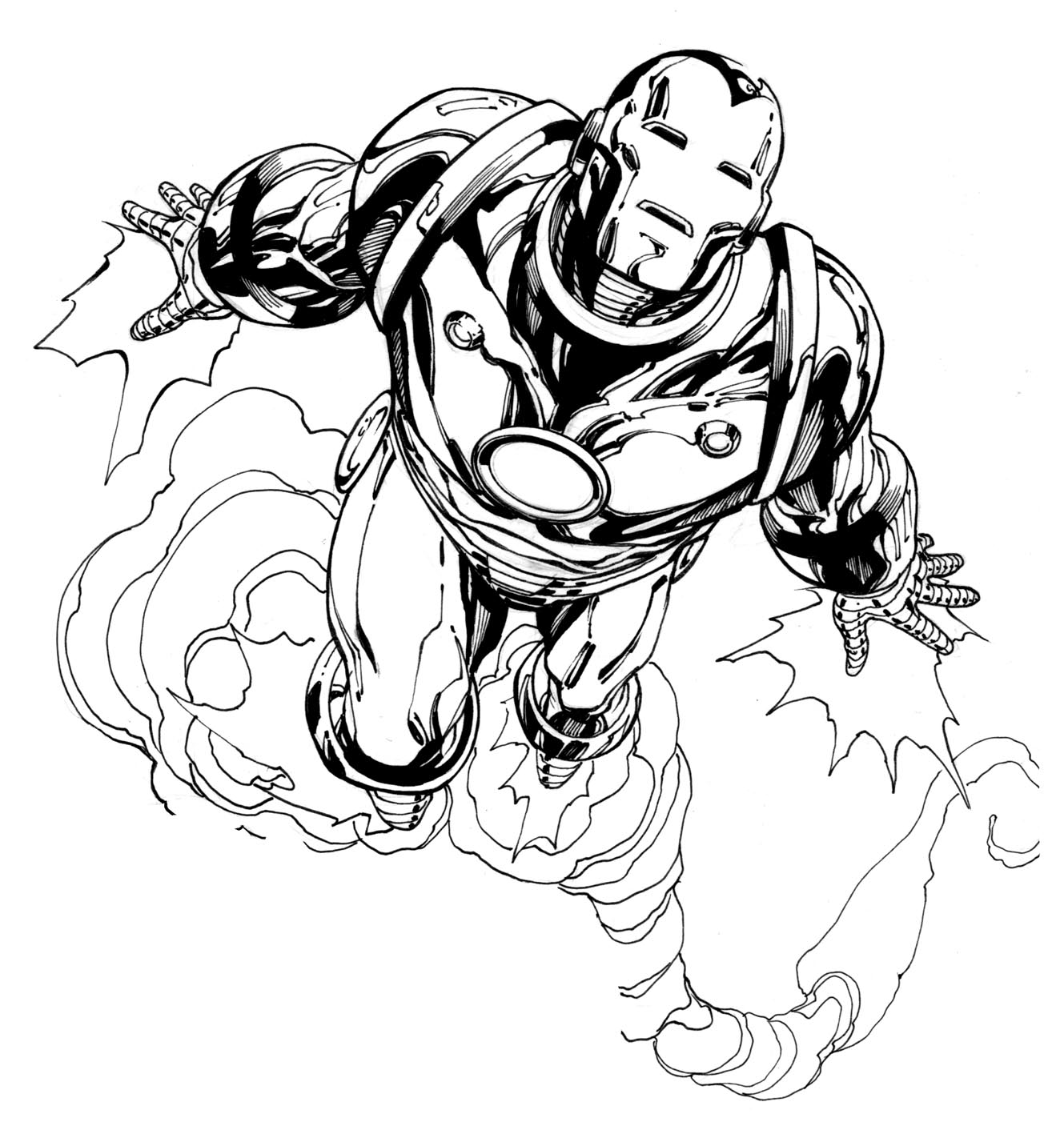 Avengers Iron Man Coloring Pages Contegricom