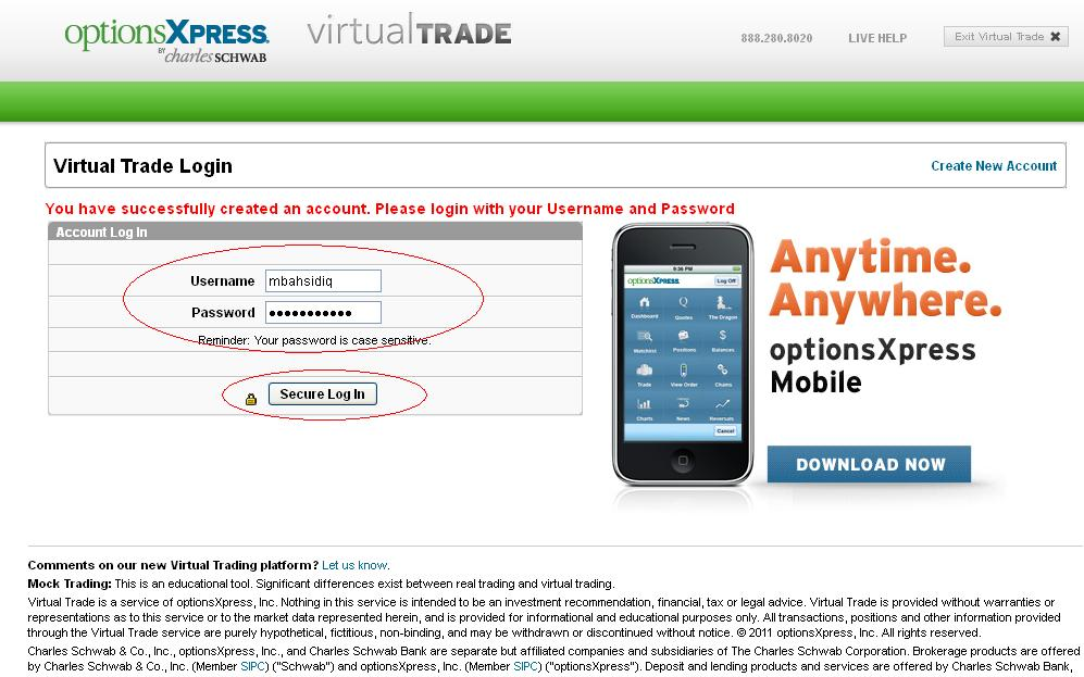 Optionsxpress virtual trading mobile