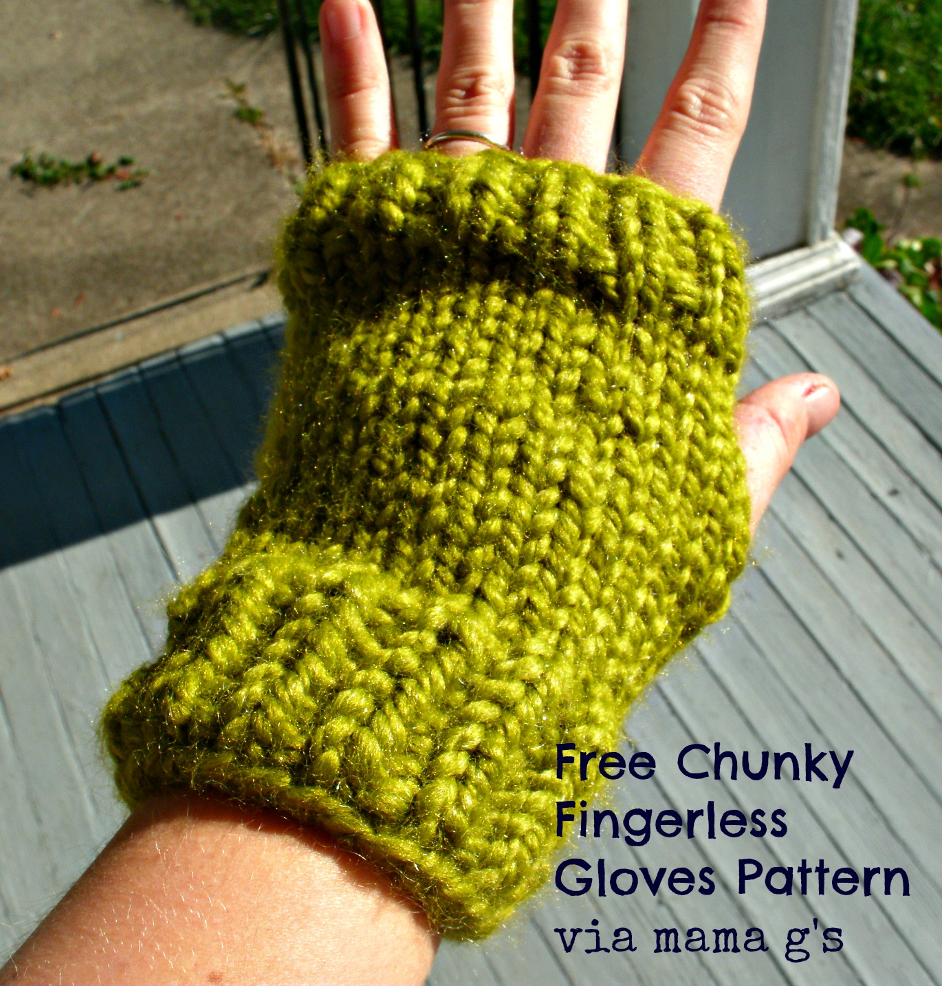 Mama G\'s Big Crafty Blog: Free Pattern! Fast and Chunky Knitted ...