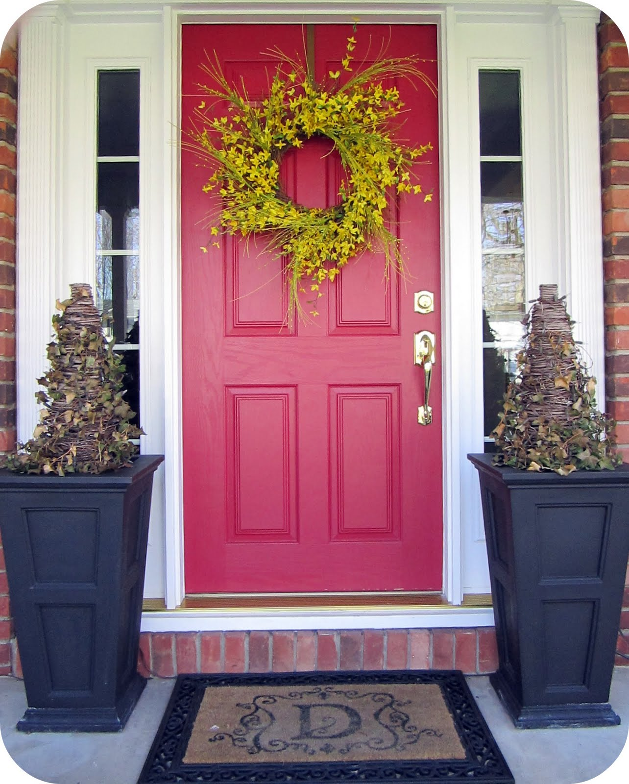 Front Door Colors For Red Brick Houses. Trendy Picking A New Siding ...