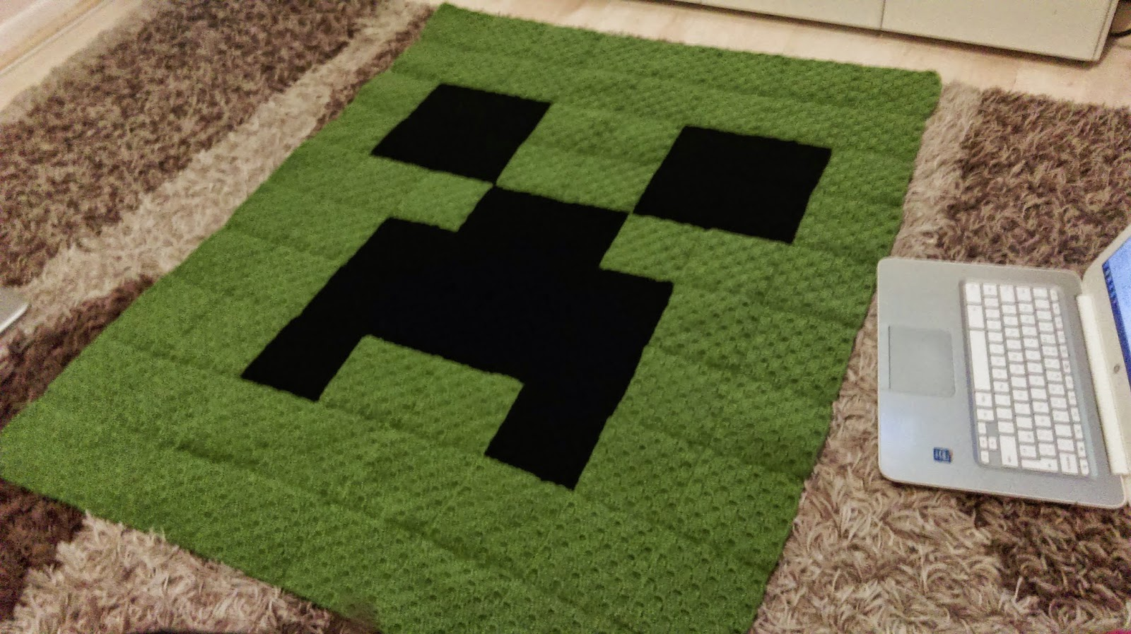 Minecraft Crochet Blanket www.galleryhip.com - The ...