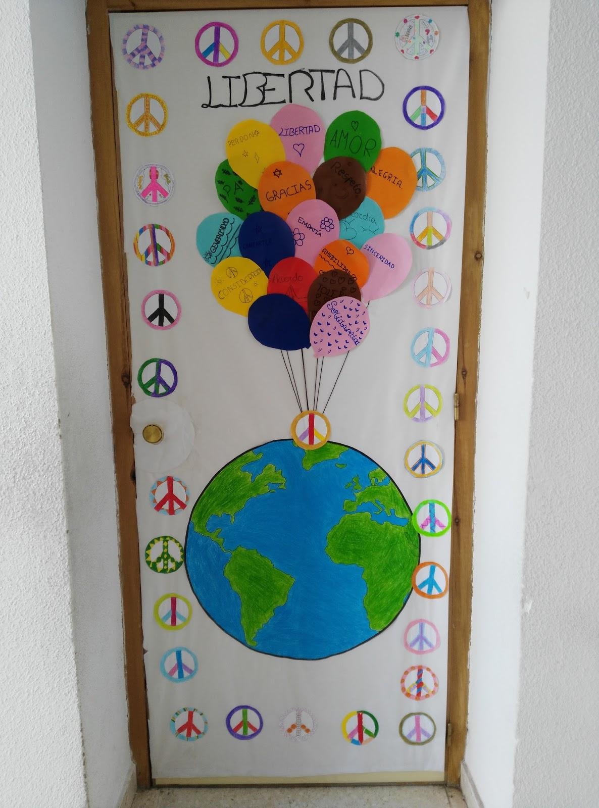 El blog de 6 b puertas por la paz for Puertas decoradas enero