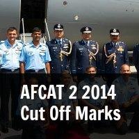 AFCAT 2 2014 Cut Off Marks