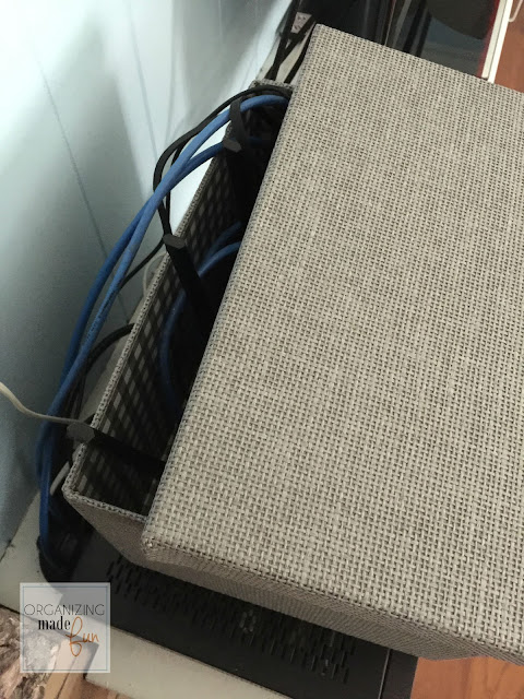 Router doesn't fit in box :: OrganizingMadeFun.com