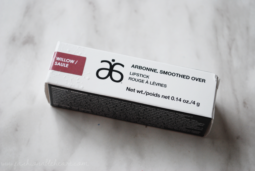 bbloggers, bbloggersca, beauty blogger,arbonne, willow, lipstick, smoothed over, swatches, review