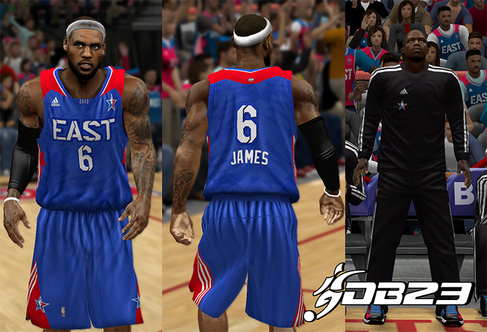 NBA 2K13 East All-Stars 2013 Jersey Preview
