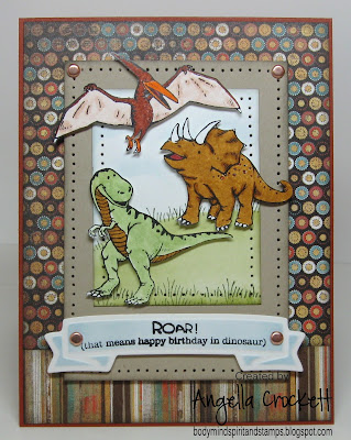 "Stampin Up ""DinoRoar"" Designer Angie Crockett"