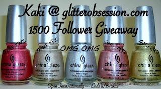 glitterobsession: 1500 Follower Giveaway