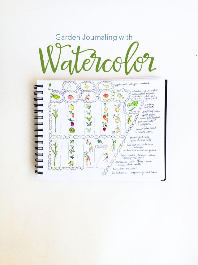Garden Journaling with Watercolor