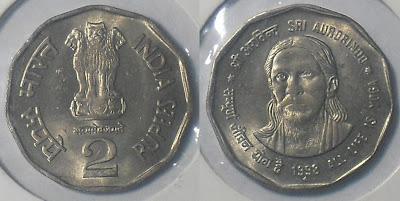 2 rupee sri aurobindo