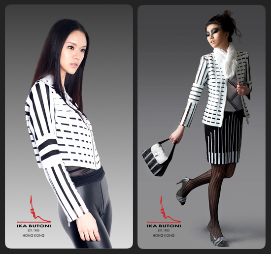 IKA BUTONI Black and White Jacket
