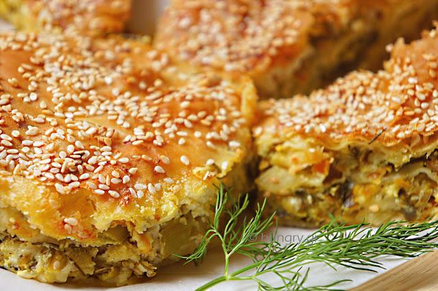Zucchini Pie with Greek Feta