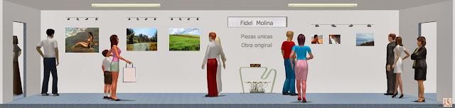 """<img src=""""http://1.bp.blogspot.com/-55-a4tss4L4/UroCUZSgCKI/AAAAAAAASNI/EcVkPOIItxQ/s1600/sala-de-exposicion-de-fidel-molina.jpg"""" alt=""""Sala de exposición virtual de pinturas de Fidel Molina""""/>"""