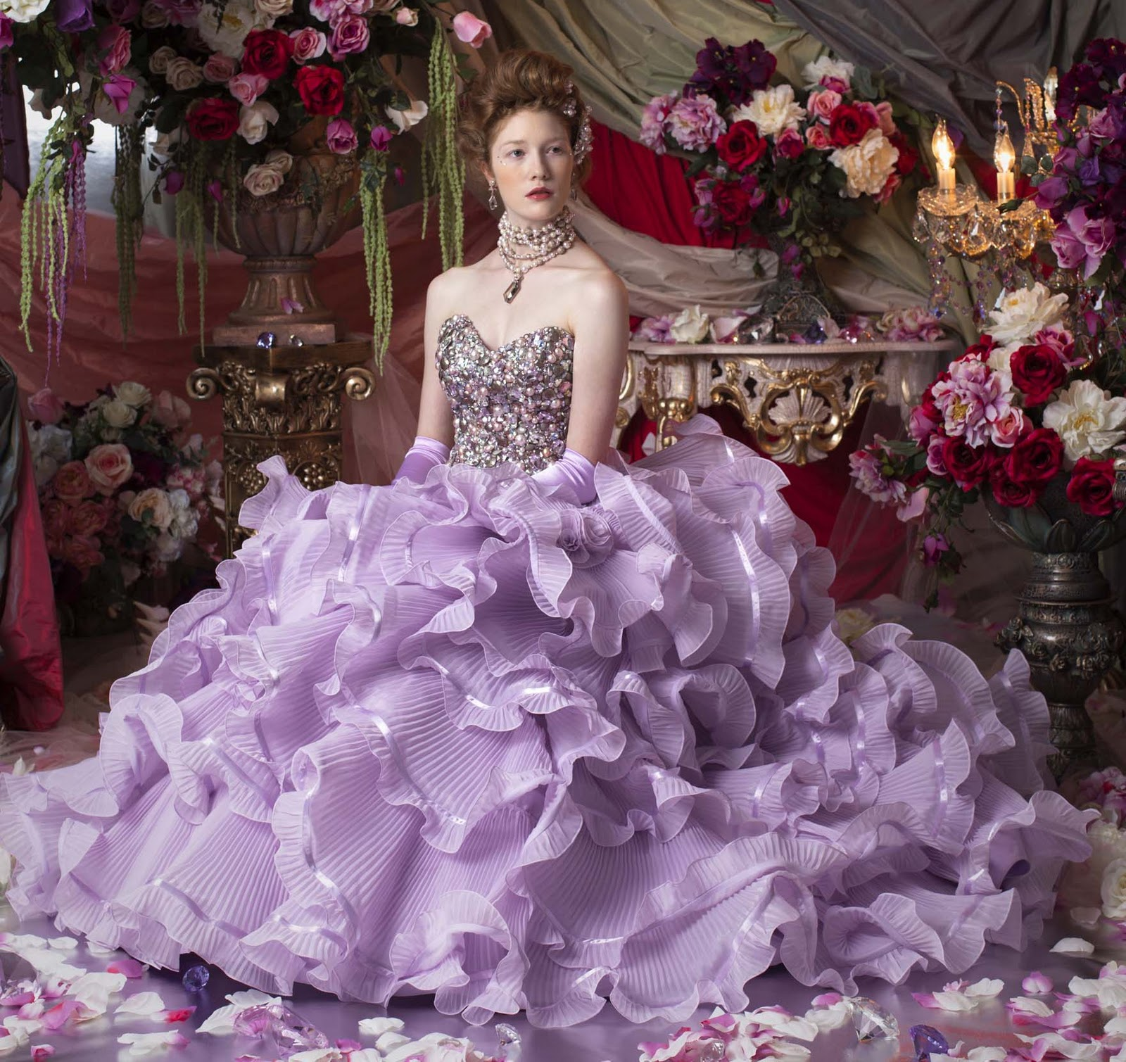 Purple Wedding Dresses For  : Heart wedding dress purple ideas