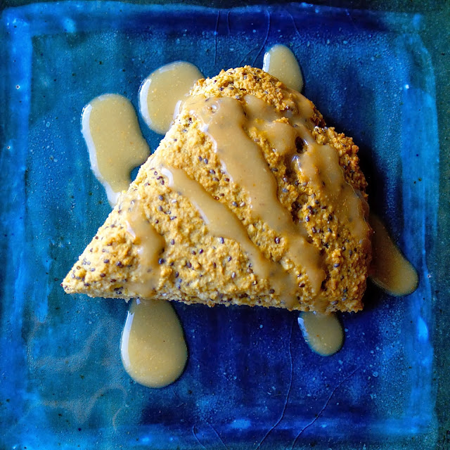 Margaret's Dish: Lemon Chia Seed Scones with Sweet Lemon Cashew Glaze