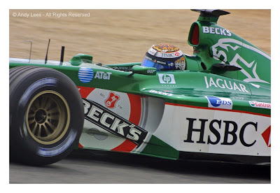 eddie irvine in his jaguar spanish grand prix