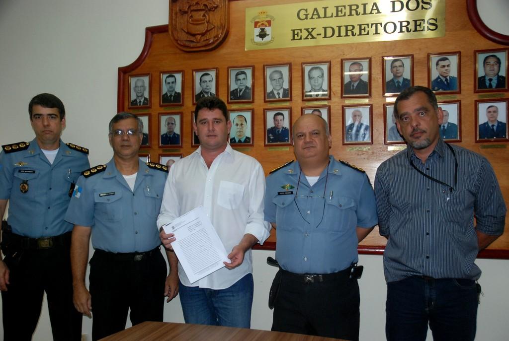 Prefeito Arlei, Secretário de Segurança Pública, Da Luz, e comando da PM confirmam convênio para funcionamento do DPO de São Pedro
