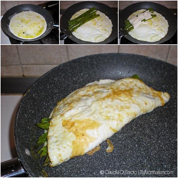 Omelette di albumi con asparagi