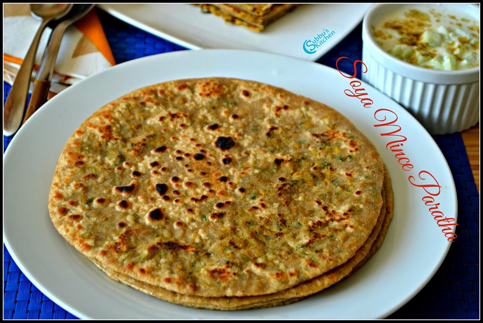 Soya Mince Paratha Recipe | Soya Granules Paratha Recipe | Soya Paratha Recipe