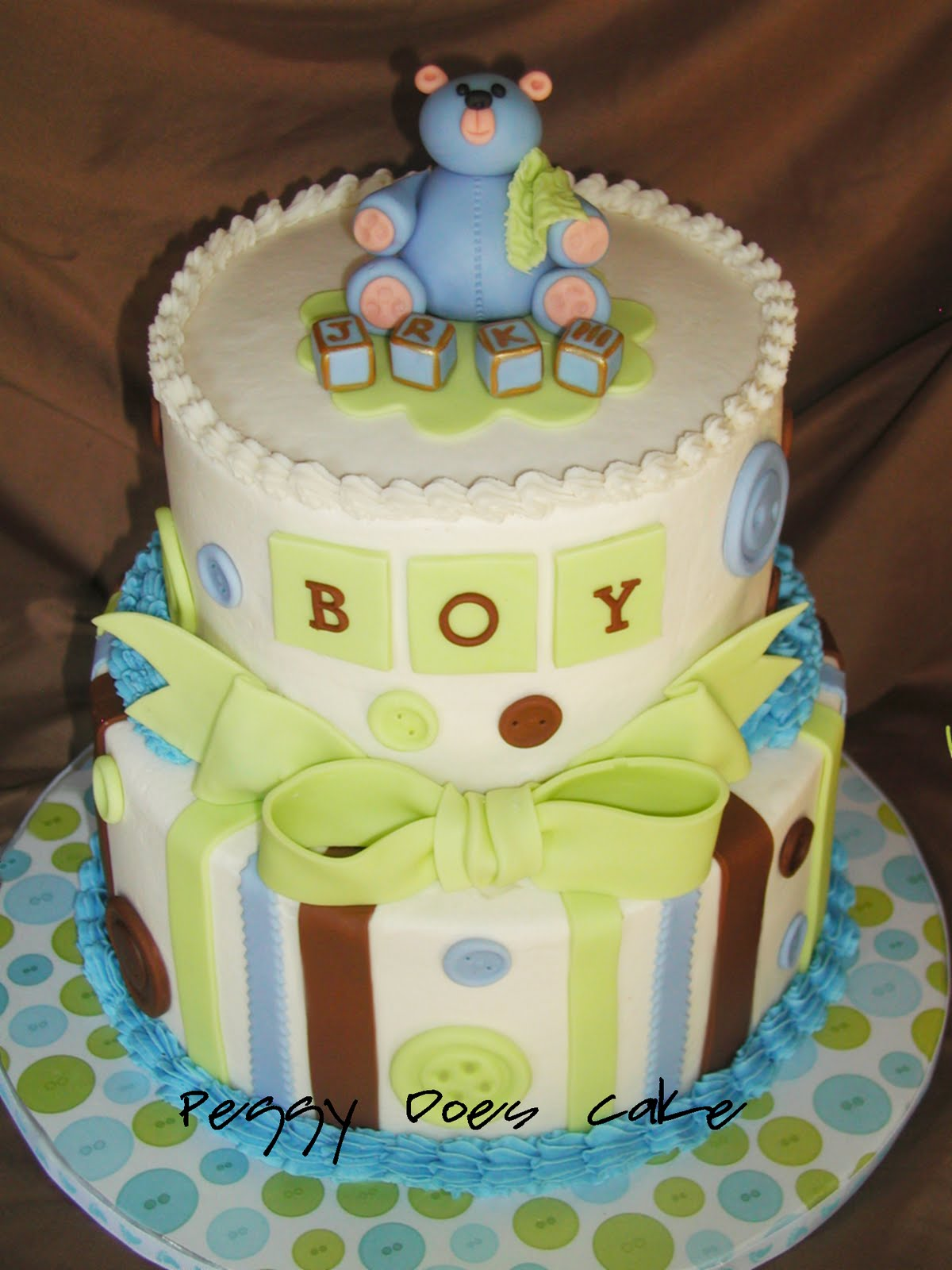 Cute Baby Cake Images : Baby Shower Cake: Cute as a Button!