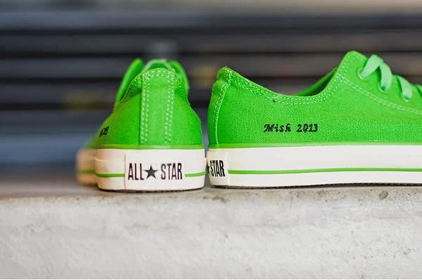 custom chucks, chuck taylors, converse, green