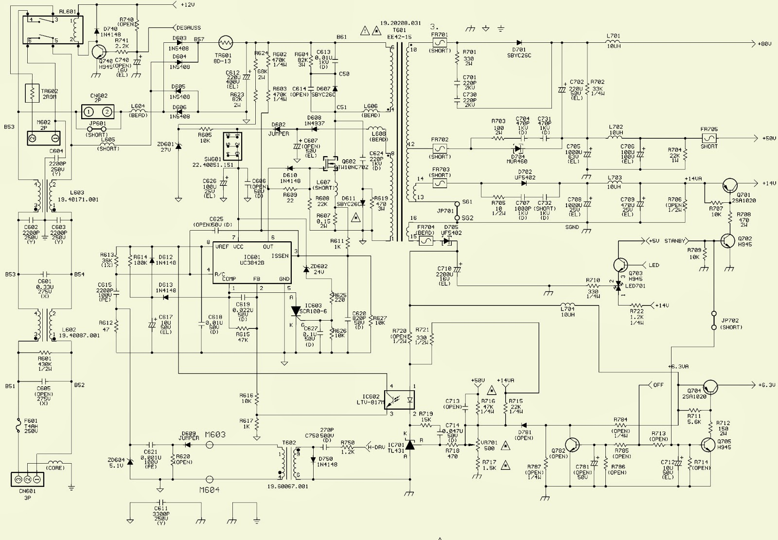 acer benq 17 crt monitor mts1786 horizontal out smps rh electronicshelponline blogspot com 3-Way Switch Wiring Diagram Basic Electrical Schematic Diagrams