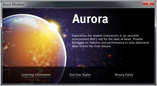 Mozilla releases public Firefox Aurora beta