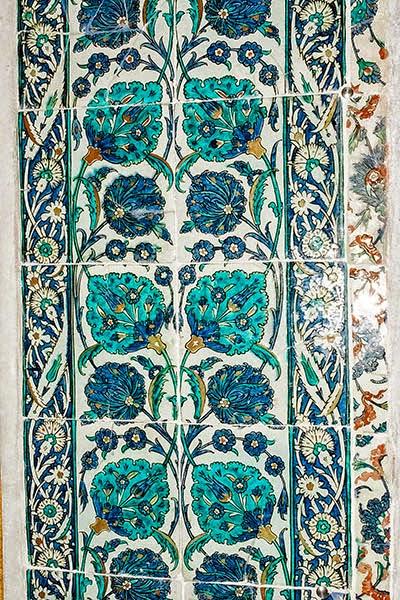 Iznik Tiles, Harem, Topkapi Palace
