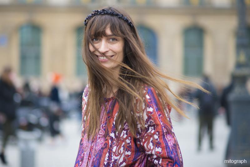 mitograph Caroline de Maigret Paris Fashion Week 2013 2014 Fall Winter PFW Street Style Shimpei Mito