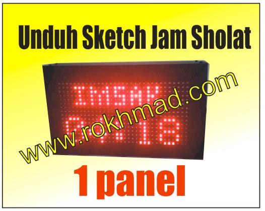 Sketch Jam Sholat 1 Panel