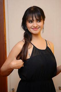 Actress Saloni Aswani Picture Gallery in Black Long Dress at (GAMA) Gulf Andhra Music Awards 2014 Press Meet  7.JPG