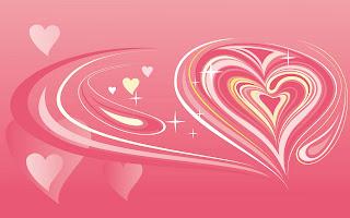 Roze wallpaper met hartjes
