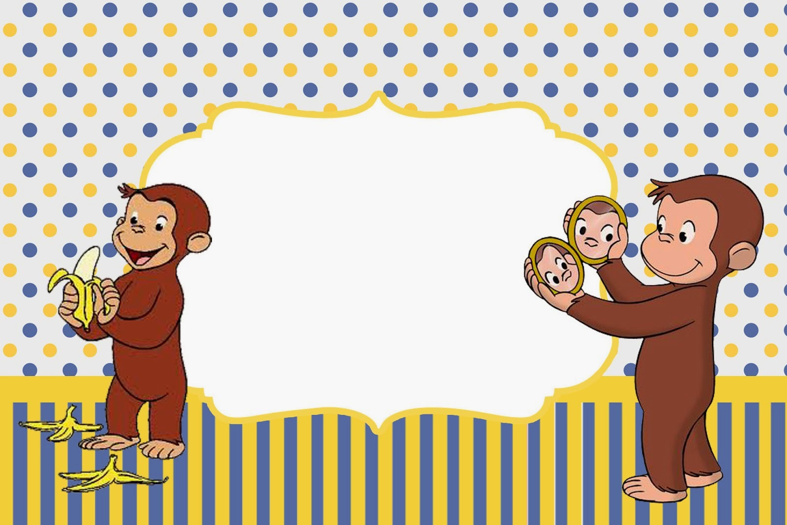 Free Printable Curious George Invitations for luxury invitations sample