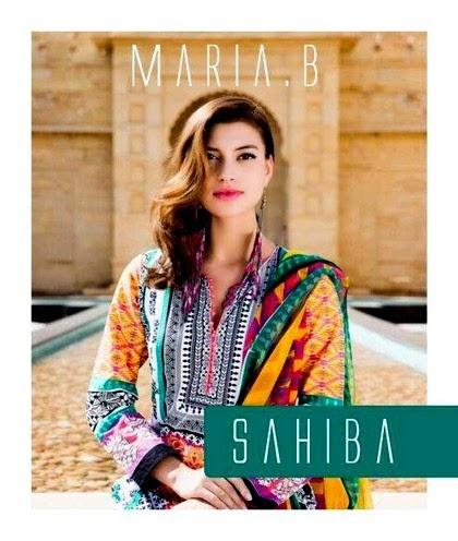 Sahiba Astitva Maria B Indian Designer Lawn Collection 2014