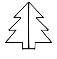 Molde sencillo de pino de navidad