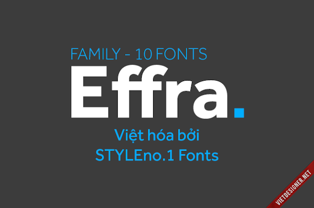 [Sans-serif] Effra Việt hóa (Regular & Bold)