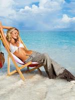 Плажен панталон на райе