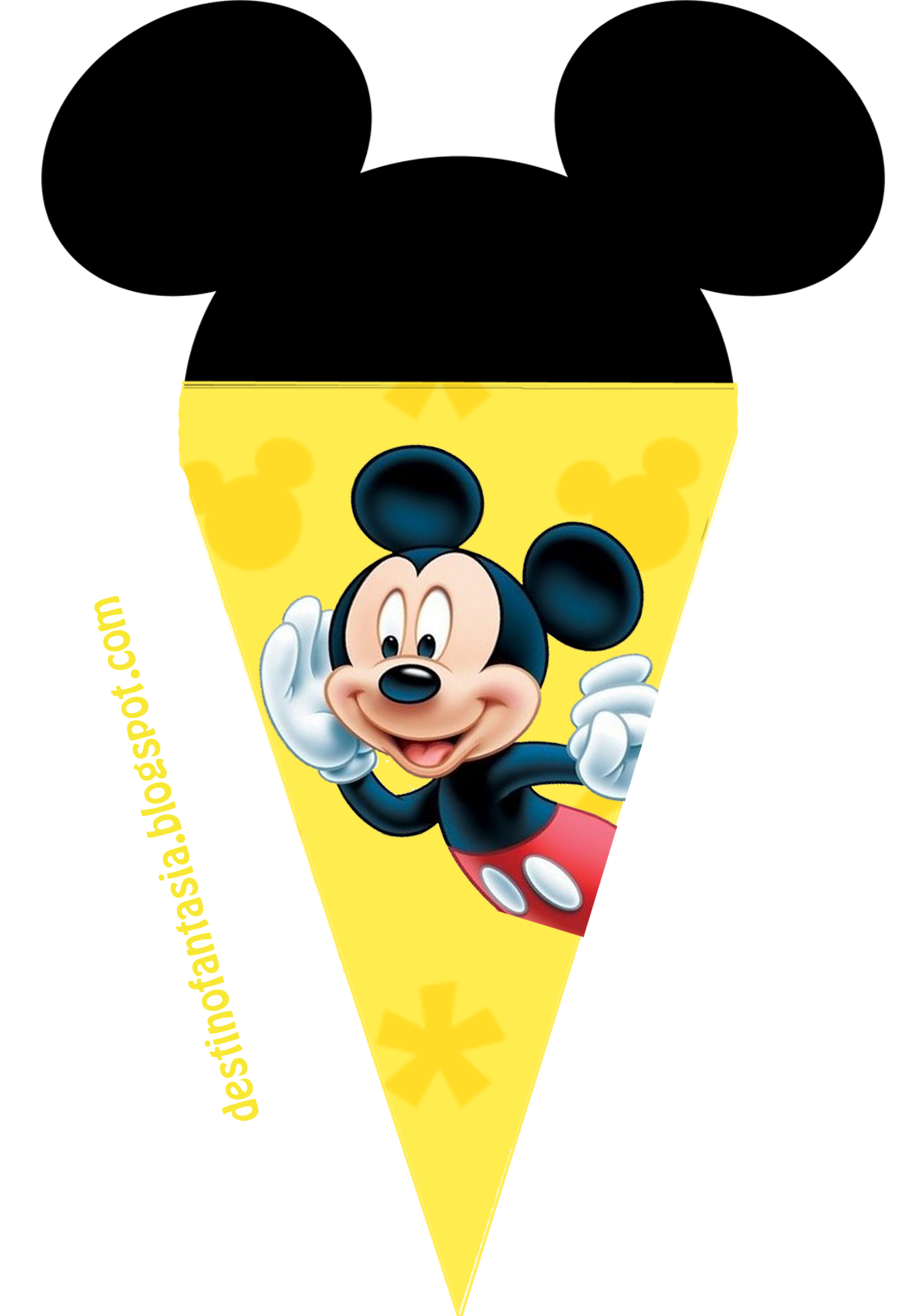 bandeirinha festa mickey