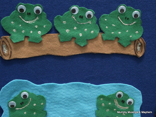 5 speckled frogs felt story 