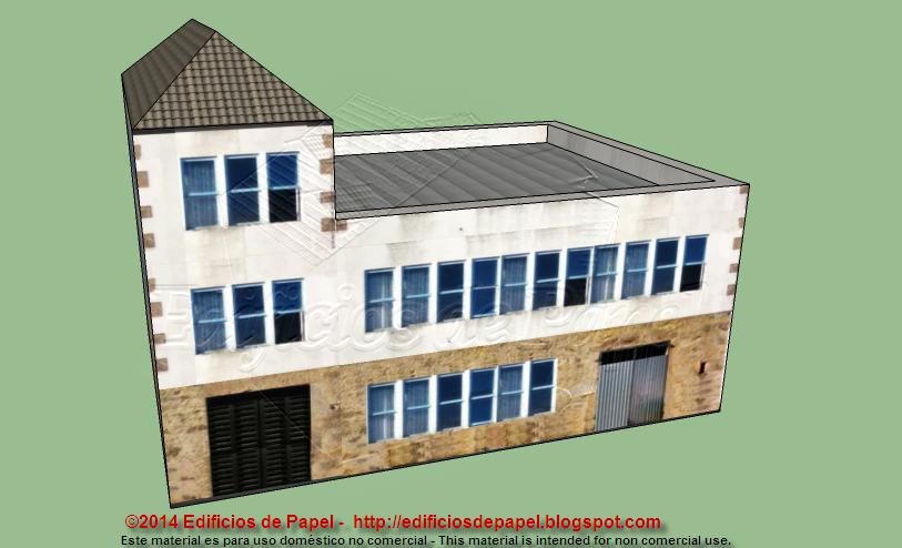 3 storey building paper model
