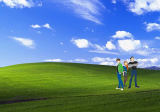Ben Ten 10 Friends Gwen Kevin free wallpapers in 3D Bliss Landscape background