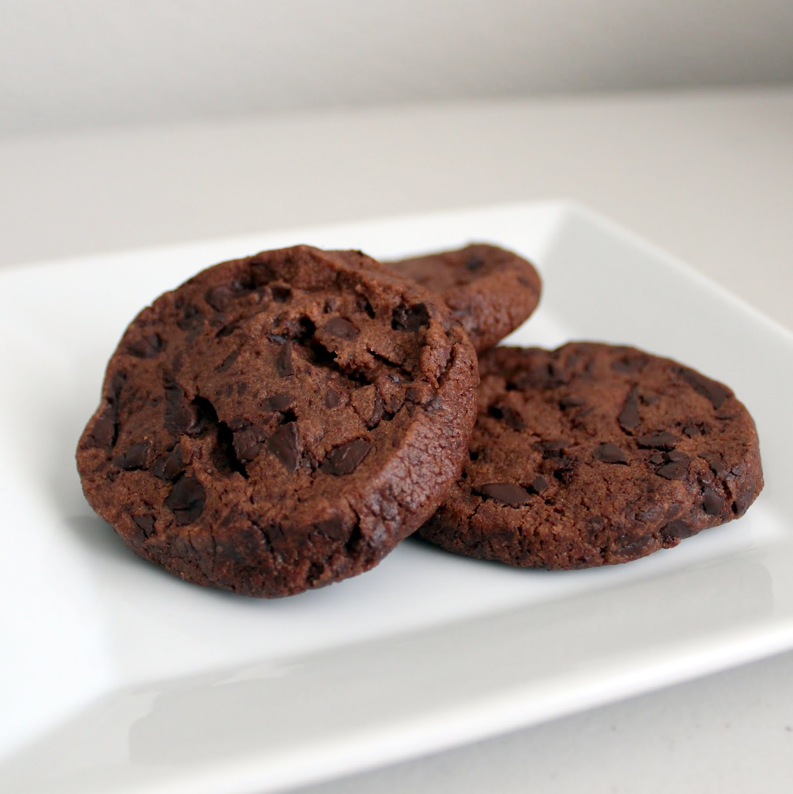 double chocolate shortbread sable cookies