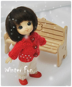 Winter outfits for little dolls
